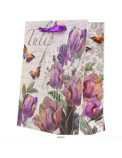 Пакет подарочный 12*16*6,5см «Darvish» «цветы»
