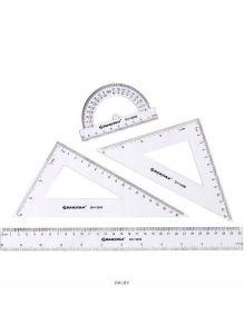 Набор геометр. «Darvish» 4 предмета (линейка30см+транспортир+2треугольника)