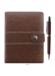 Набор подарочный ежедневник на кольцах А5 + ручка «Darvish» (черный, коричневый, синий)