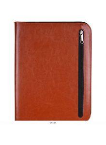 Бизнес-органайзер к/з 33х25см +калькулятор+блок А4,рыжего цвета