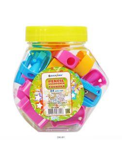 Точилка пластмассовая «Darvish» (ассорти) в пластиковой банке