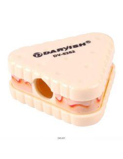 Точилка пластмассовая «Darvish» (ассорти) в форме бутерброда в пластиковой банке