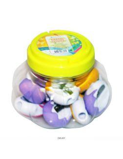 Точилка пластмассовая «Darvish» (ассорти) с ластиком в пластиковой банке