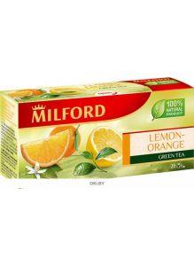 Чай зеленый байховый ароматизированный в фильтр-пакетах для разовой заварки «Лимон-Апельсин»