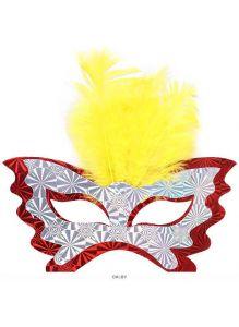Набор масок карнавальных(с перьями) 6шт