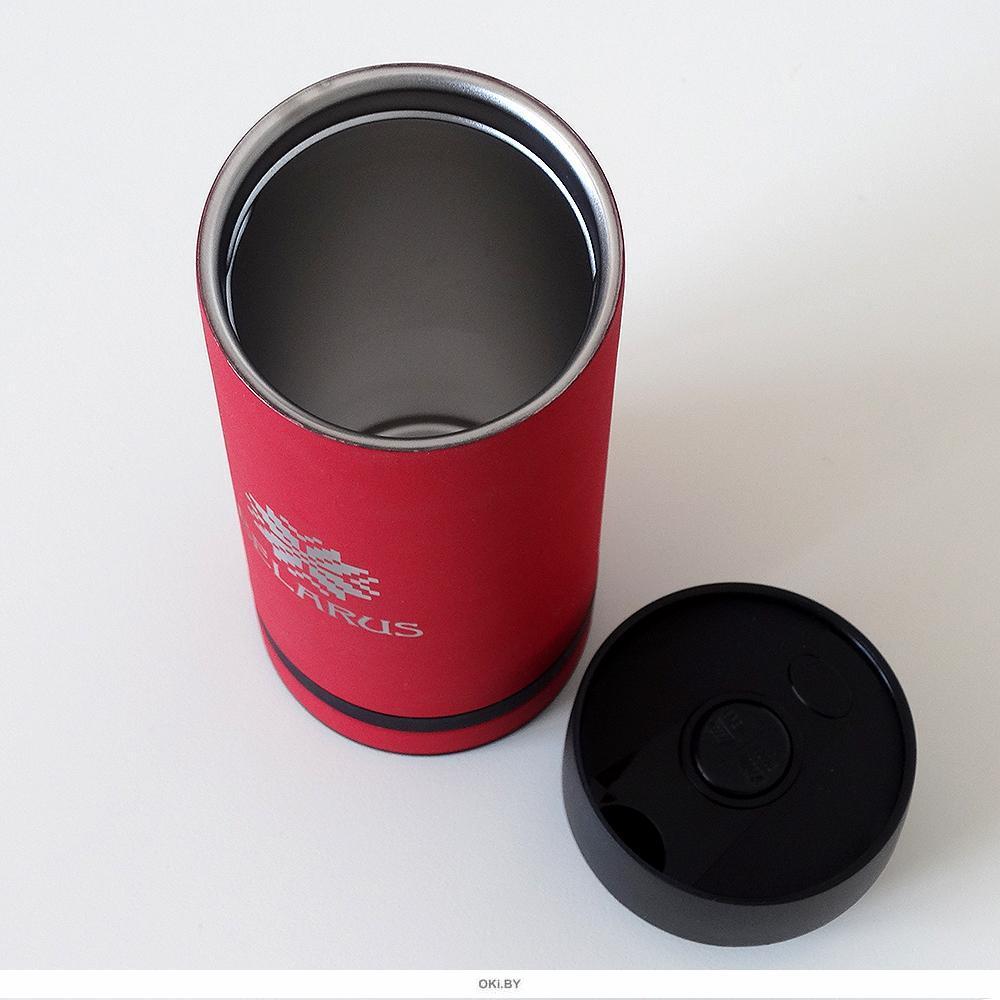 Термокружка «BELARUS PATTERN», красная