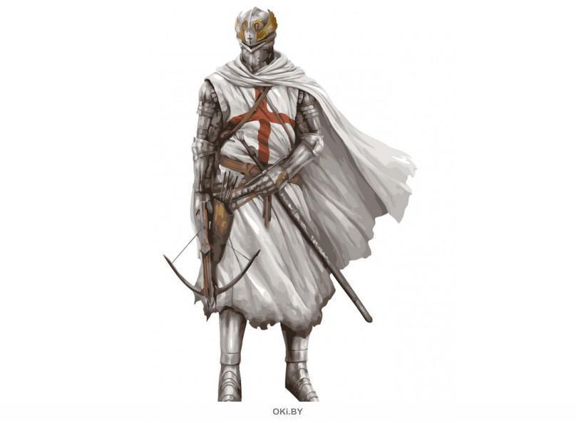 «Крестоносец» картина на холсте (40 х 50 см) 854-AB