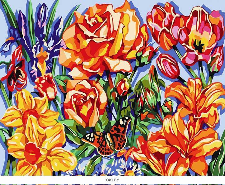 «Цветочный восторг» картина на холсте (40 х 50 см) 556-CG