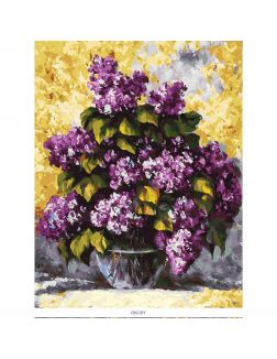«Дивная сирень» картина на холсте (30 х 40 см) 334-AS