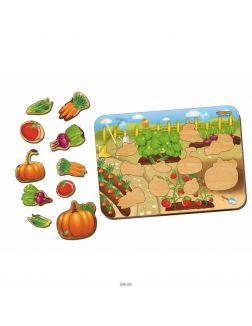 Овощи - деревянный вкладыш, арт. 11601