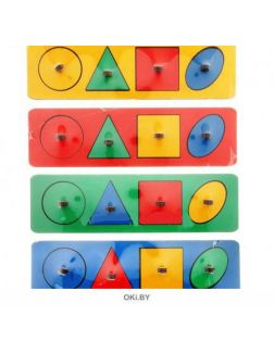 Геометрические фигуры - рамки-вкладыши (арт. Р01)