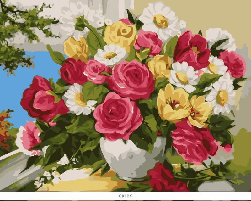 Аромат цветов. Картины по номерам 40х50 см ( кол-во красок 24, арт. РН-104)