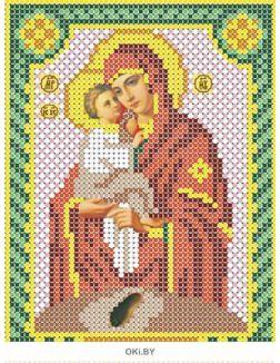 Почаевская. Икона для вышивки бисером 12х16 см (канва габардин, бисер Preciosa, зашивка полная, кол-во цветов 10, арт. НДА5-063)