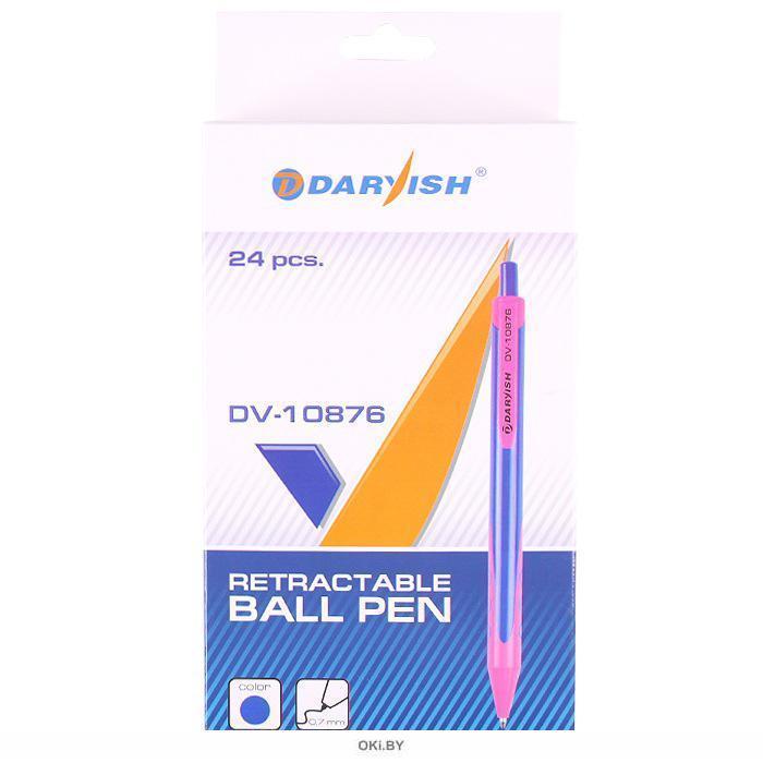 Ручка авт. син. «Darvish» корпус цветной ассорти (арт. DV-10876)