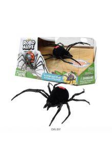 Игрушка Робо-паук RoboAlive (черный, 1* AG13 батарейка входит в набор)