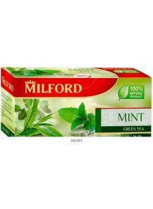 Чай в фильтр-пакетах для разовой заварки ЗЕЛЕНЫЙ БАЙХОВЫЙ ЧАЙ С МЯТОЙ.  МИЛФОРД, 20 х 1,75г