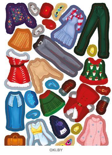 Модные подружки. Зима №3 (19) волшебные наклейки