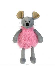 Игрушка мягкая Мышка в розовом, без чипа (16 см)