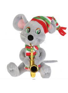 Игрушка мягкая Мышь саксофонист