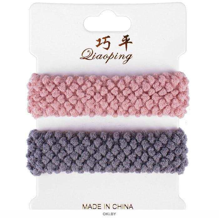 Резинки для волос в наборе 2шт , цвет ассорти (арт. 033414)