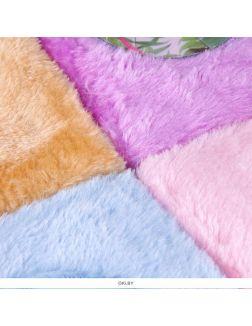 Блокнот меховой с рисунком «Фламинго» 12,3х18,3 см 80 л