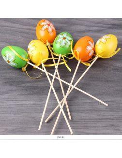 Сувенир «Яйцо Пасхальное» бол. на палочке 6шт/уп (набор)