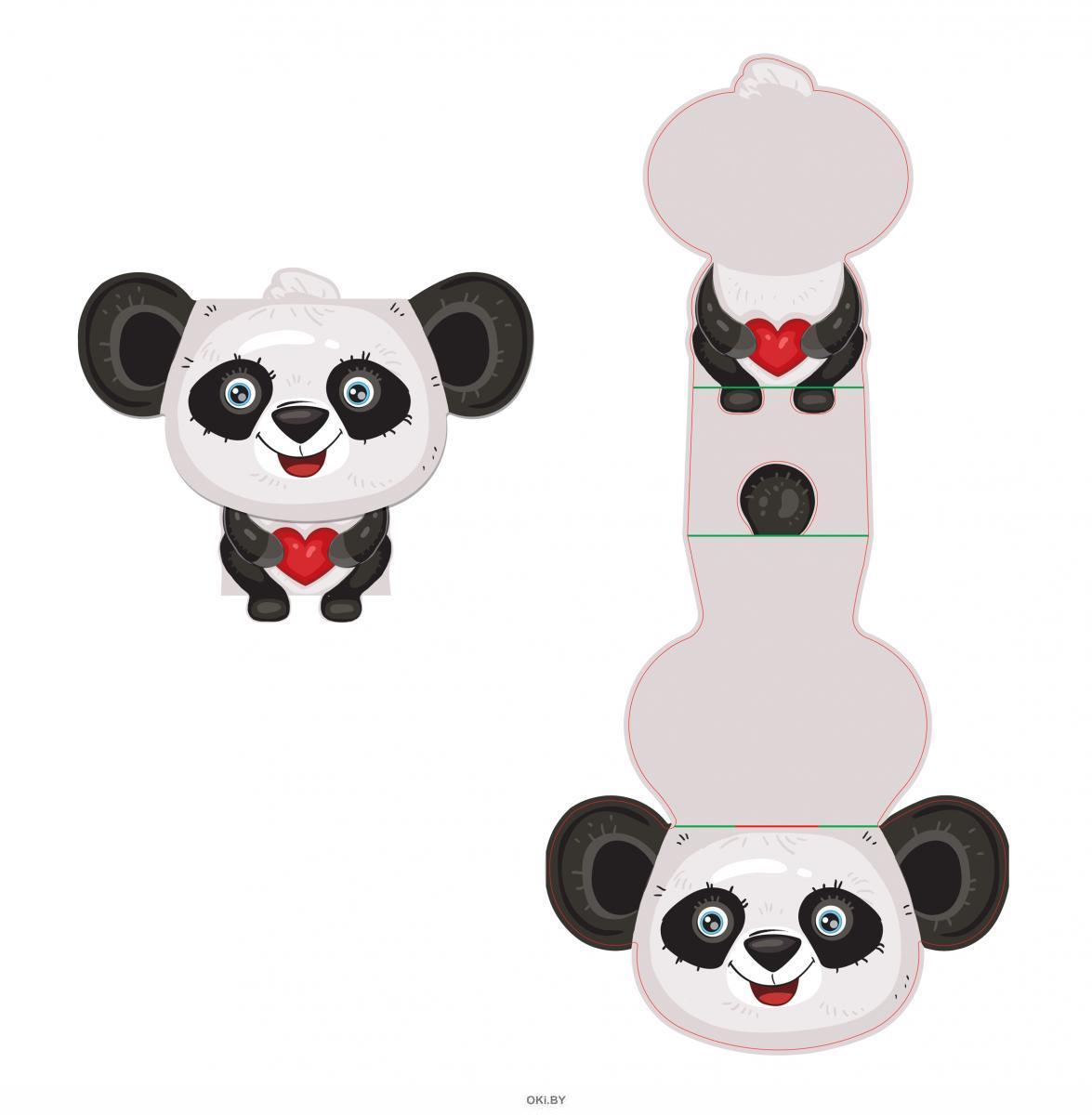Панда 3Д валентинка