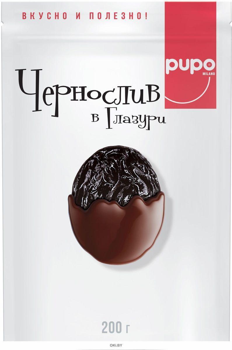 «PUPO» конфеты «Чернослив в глазури» дой-пак 200 г / 20шт