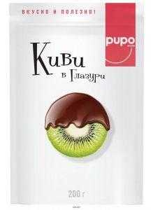 «PUPO» конфеты «Киви в шоколадной глазури» дой-пак 200 г / 20шт