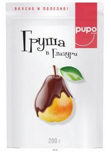 «PUPO» конфеты «Груша в шоколадной глазури» дой-пак 200 г / 20шт