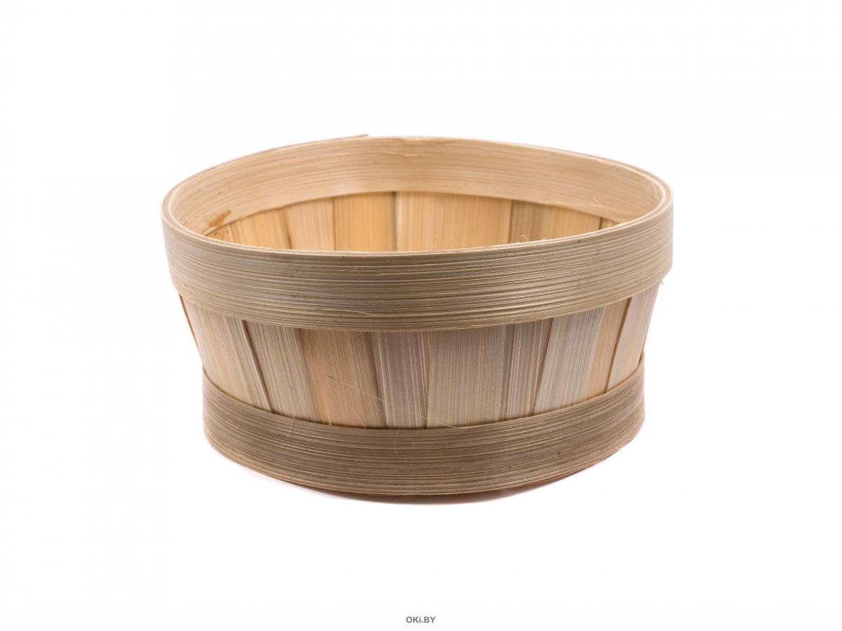 КОРЗИНА бамбуковая плетеная окрашеная 20*8 см (арт. KO14001a, код 202300)