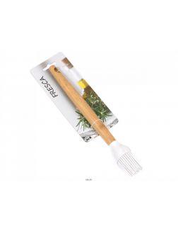 КИСТЬ ДЛЯ ТЕСТА силиконовая с бамбуковой ручкой 26 см (арт. 966481-273, код 198177)