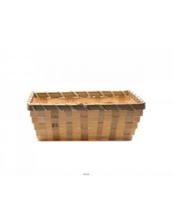 КОРЗИНА бамбуковая плетеная окрашеная 21*15*7 см (арт. KO14004b, код 202317)