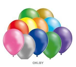 Металлик - воздушный шарик в ассортименте 10 шт, 31 см (eks)