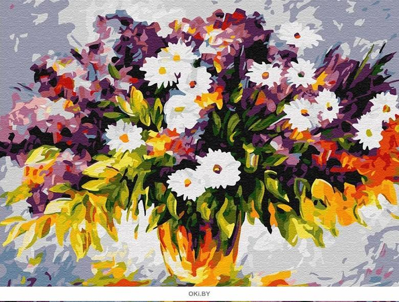 Яркий букет - живопись по номерам на картоне 30х40см, Azart