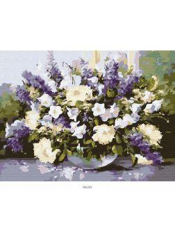 Весенний букет - живопись по номерам на картоне 30х40см, Azart