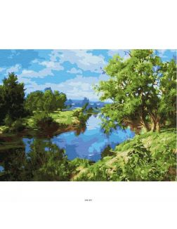 У реки - живопись по номерам на картоне 30х40см, Azart