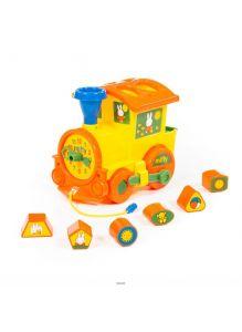Миффи - логический паровозик с 6 кубиками №1 в коробке