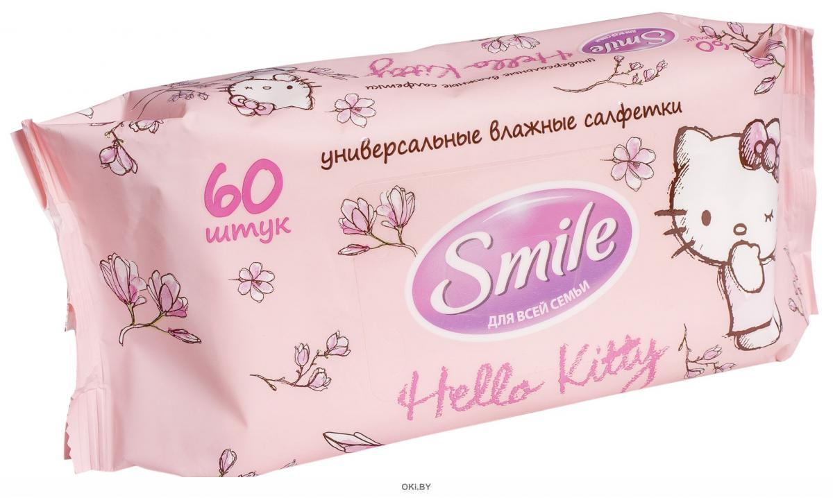 Hello Kitty Салфетка влажн для всей семьи , 60шт (Smile )