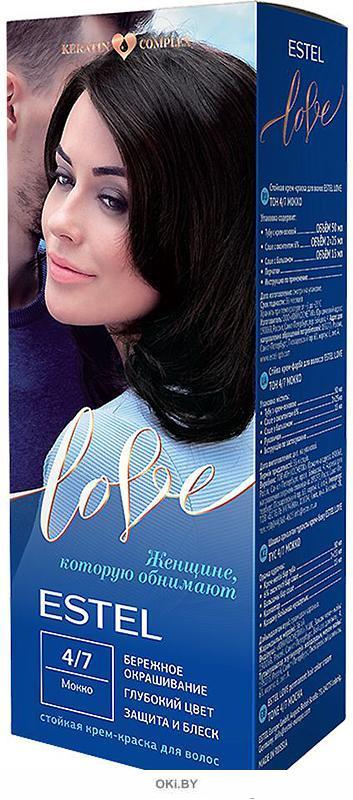 Мокко тон 4/7 - стойкая крем-краска для волос  ESTEL LOVE