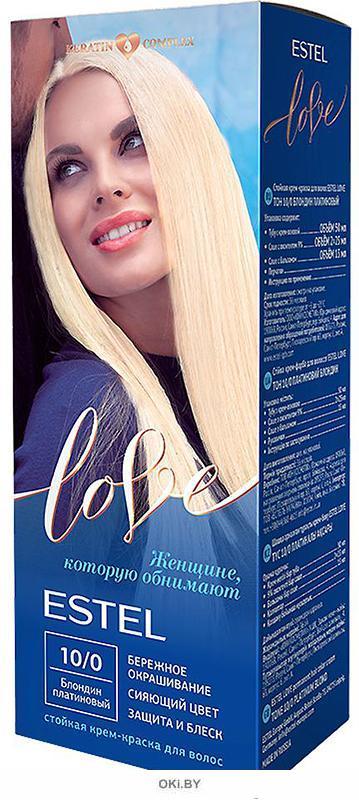 Блондин платиновый тон 10/0 - стойкая крем-краска для волос  ESTEL LOVE