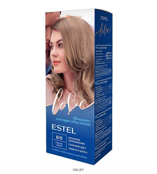 Светло-русый тон 8/0 - стойкая крем-краска для волос  ESTEL LOVE