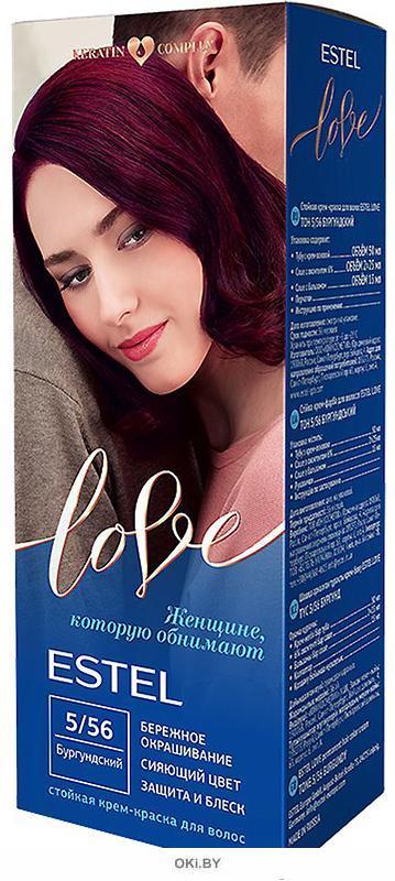 Бургундский тон 5/56 - стойкая крем-краска для волос  ESTEL LOVE  «»