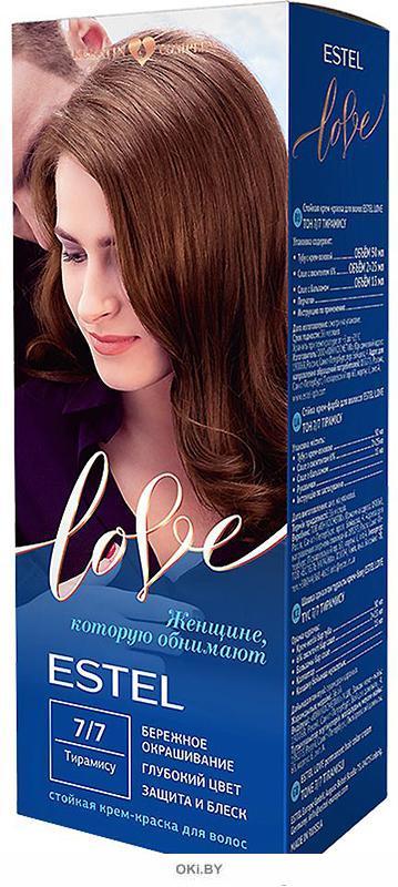 Тирамису тон 7/7 - стойкая крем-краска для волос  ESTEL LOVE