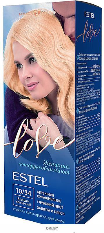 Блондин солнечный тон 10/34 - стойкая крем-краска для волос  ESTEL LOVE