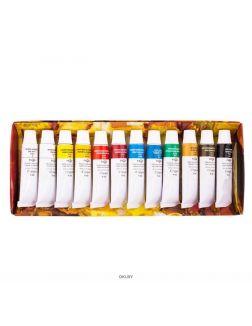 Набор масла «Студия» (10 цветов +2 белых, туба - 9 мл)