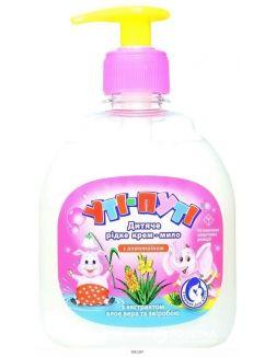 Крем-мыло жидкое детское с аллантоином, с экстрактом алоэ вера и зверобоя 300гр (