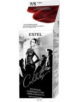 Рубин тон 7/5 - краска-уход для волос ESTEL CELEBRITY (без аммиака)