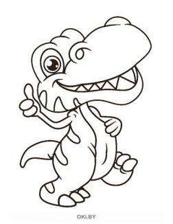 Динозаврики № 4. Раскраска в ассортименте «Играю! Рисую! Фантазирую!»