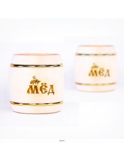 Мёд натуральный с пыльцой в бочонке 1 кг